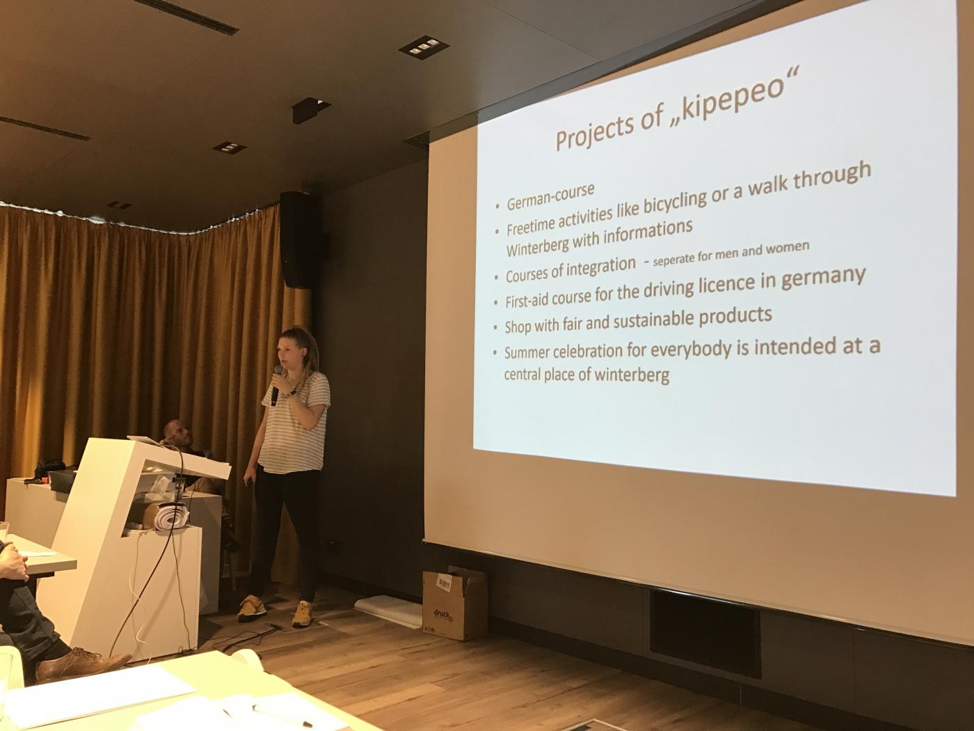 Viktoria Pape berichtet von der Arbeit des Winterberg Vereins KIPEPEO