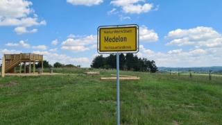 Die Naturwerkstatt in Medelon. Ein ein traumhafter neuer Aussichts- und Natur-Infopunkt.